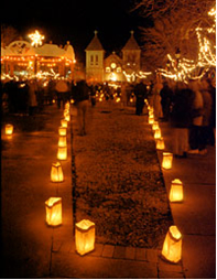 line your street with luminaries