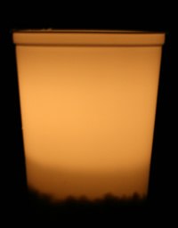 White luminary container