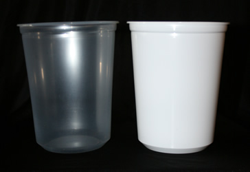 Luminary Buckets - White and Clear